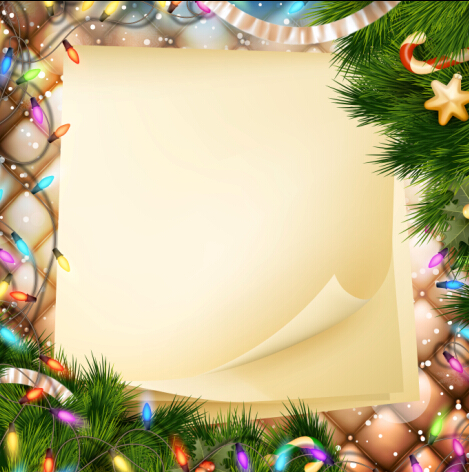 Christmas Ornate Background With Greeting Cards Vector 03 Free Download