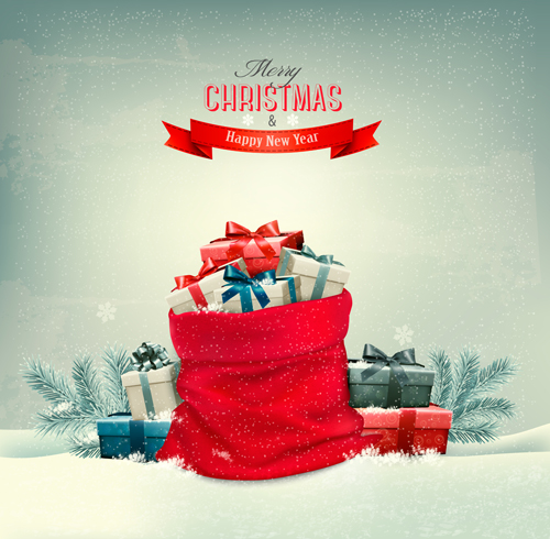 Christmas Gift Box Vector Inspirations Of