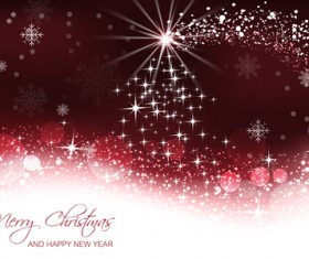 Christmas with new year abstract shiny vector 01
