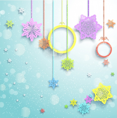 Christmas decor element background  vector