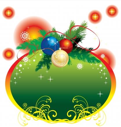 Christmas Graphics Free Download.Christmas Frame With Ornaments Vector Graphics Free Download