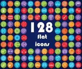 Circle flat Application Icons set