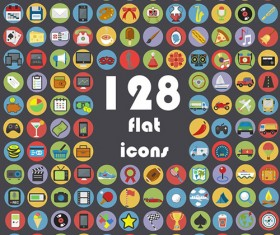Circle flat icon vintage vector