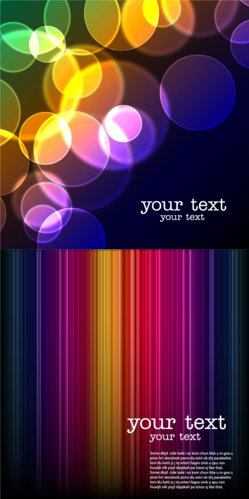 Colorful fantasy backgrounds art vector
