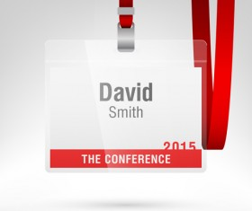 Conference card design vector 01