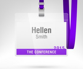 Conference card design vector 02