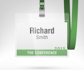 Conference card design vector 03
