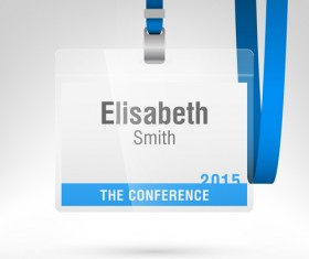 Conference card design vector 04