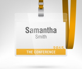 Conference card design vector 06