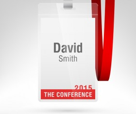 Conference card design vector 07