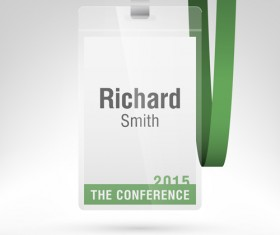 Conference card design vector 08
