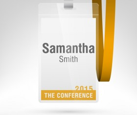 Conference card design vector 10