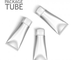 Cosmetics packages tube blank vector 13