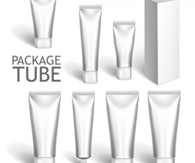 Cosmetics packages tube blank vector 14