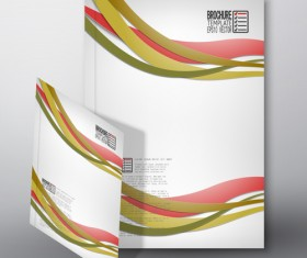 Cover brochure flyer business templates vectors 02