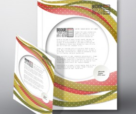 Cover brochure flyer business templates vectors 04