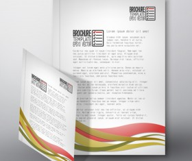 Cover brochure flyer business templates vectors 07