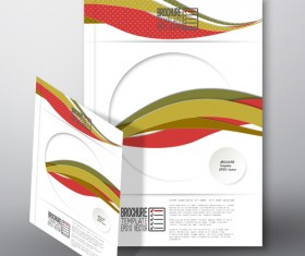 Cover brochure flyer business templates vectors 08
