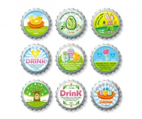 Creative bottle cap vector material