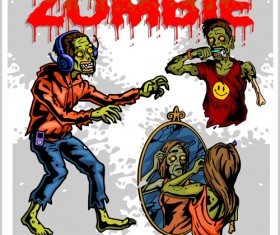 Creative zombie design vector set 01