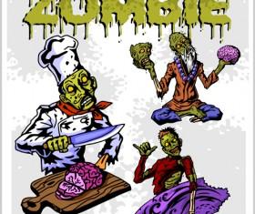 Creative zombie design vector set 02