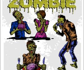 Creative zombie design vector set 03