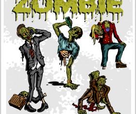 Creative zombie design vector set 05