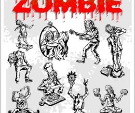 Creative zombie design vector set 08
