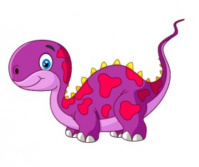 Cute cartoon dinosaur vector material 01