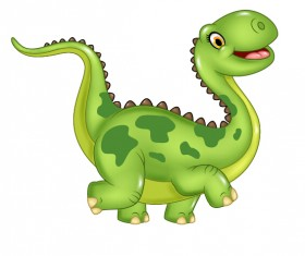 Cute cartoon dinosaur vector material 02