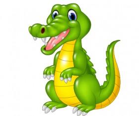 Cute cartoon dinosaur vector material 03