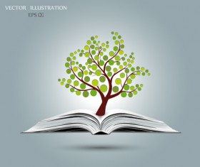 Ecology with book concepts template vector 01