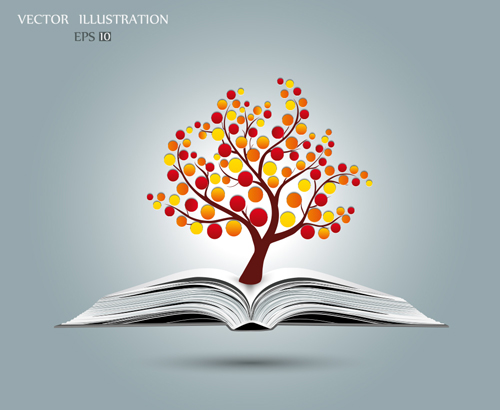 Ecology with book concepts template vector 02