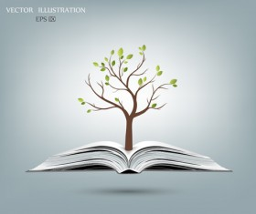 Ecology with book concepts template vector 04
