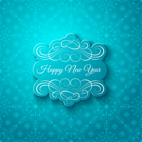 Elegant new year card with snowflake pattern vector 01 free download elegant new year card with snowflake pattern vector 01 m4hsunfo