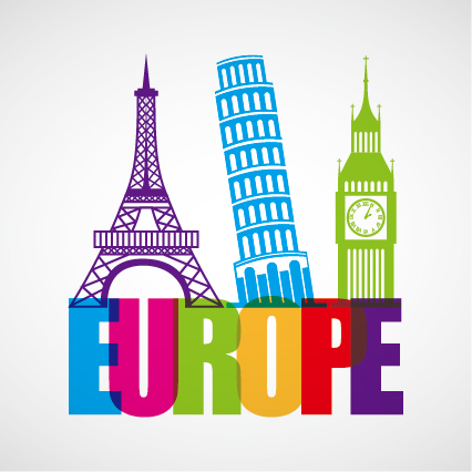 Europe world landmarks building vecor