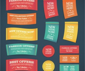 Fabric promotions Label vector set