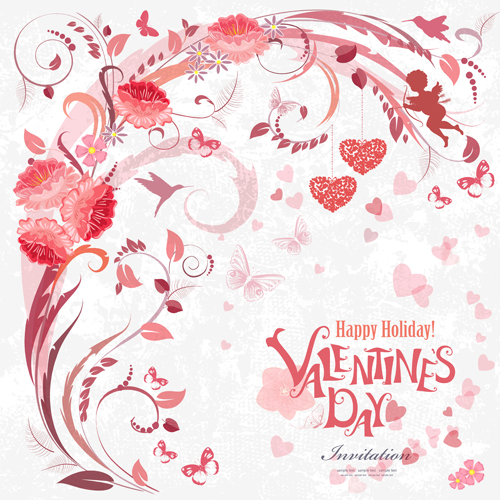 Flower valentine day cards vector 02 Vector Card Vector Flower – Flower Valentine Card