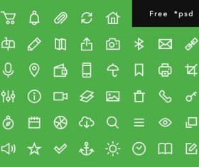 Free psd outline icons set