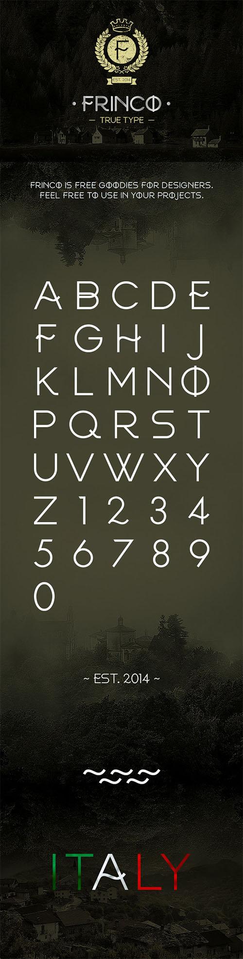 Frinco Creative Font