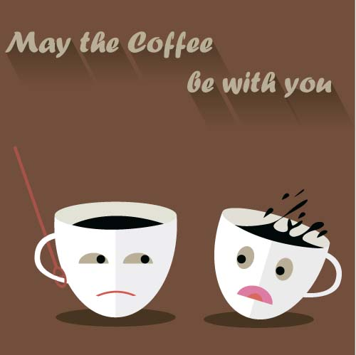 Funny Coffee Template Design Vector 01 Vector Other Free