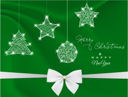 Green christmas design decor element  vector