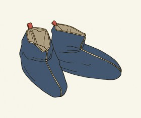 Hand drawn shoes illustration vector 01