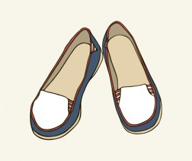 Hand drawn shoes illustration vector 02