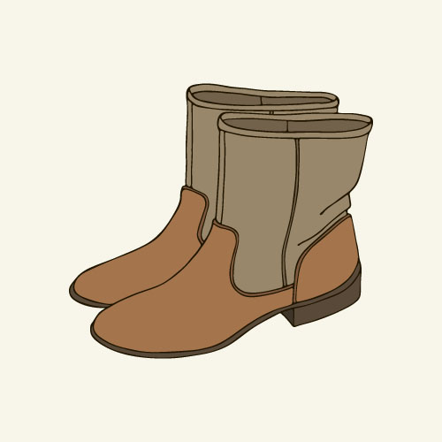 Hand drawn shoes illustration vector 03