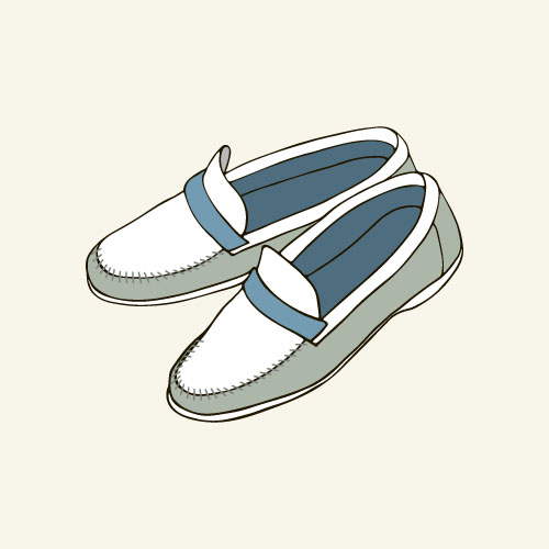 Hand drawn shoes illustration vector 04