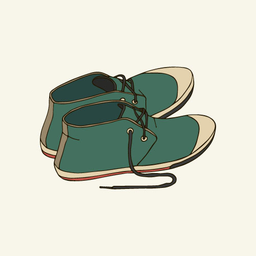 Hand drawn shoes illustration vector 05