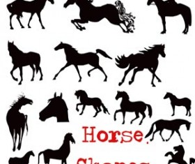 Horses Photoshop shapes