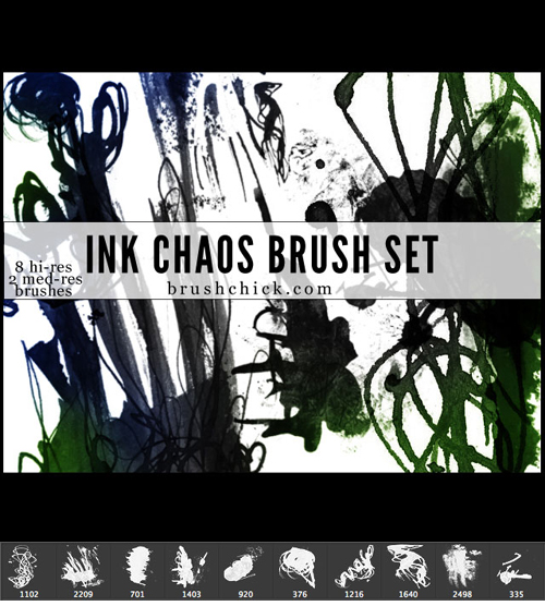 Ink Chaos Brushes set