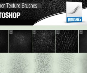 Leather texture Photoshop Brushes